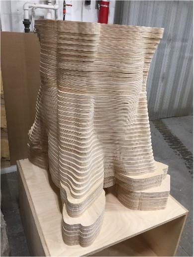 Pied de table en plywood russe 3/4 de pouce.