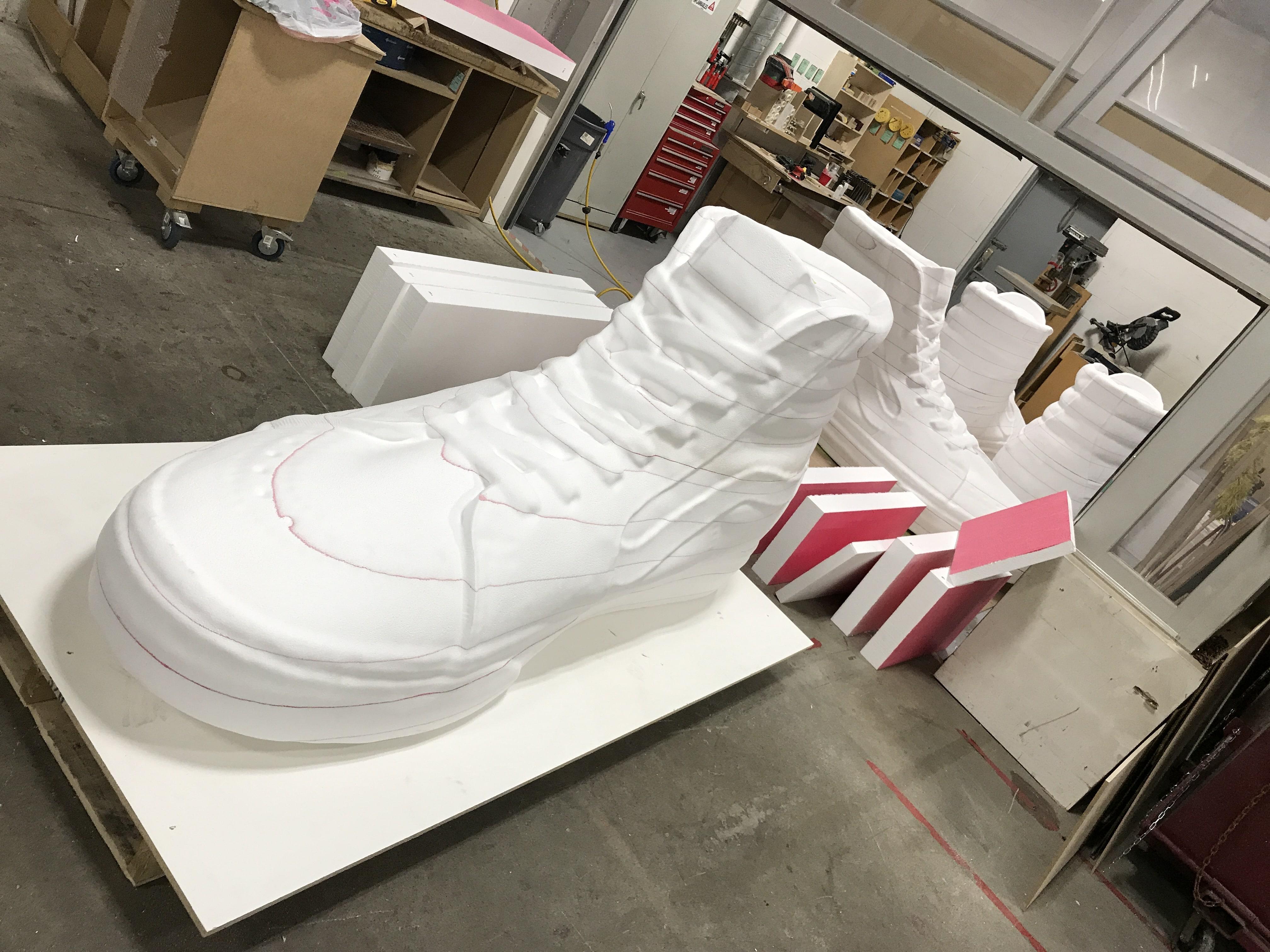 soulier polystyrène
